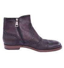 DOLCE & GABBANA Hirschleder Business Stiefeletten Schuhe Braun Boots 03823
