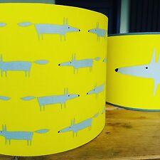 Harlequin Scion Little Fox Fabric Lampshade in Citrus Yellow & Grey