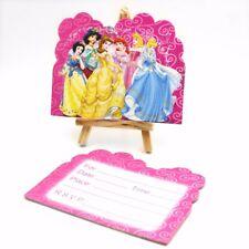 Princess Theme Invite Invitation Card CHILD Birthday Party 1 SET OF 6 Cards UK