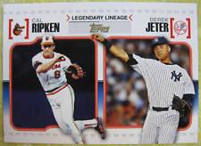 2010 TOPPS LEGENDARY LINEAGE DEREK JETER/CAL RIPKEN JR