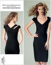 LOVELY VOGUE DONNA KARAN MISSES' BIAS SHEATH DRESS SEWING PATTERN V1280 SZ 4-20