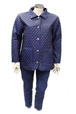 Cappotto giacca da donna blu Chateau Beau-Cedre manica lunga a rombi casual moda