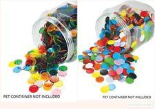 Counters Transparent 22mm 100p Bag **Choose a Colour** Maths Teacher Resource