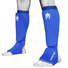MEISTER ELASTIC CLOTH SHIN & INSTEP GUARDS - BL Muay Thai MMA Taekwondo Leg Pads