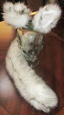 Alaskan Husky white black tips luxury shag fur ears, tails & sets in 2 sizes