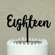 18th Cake topper, Happy 18th, Eighteen birthday Cake decor, #2 Made in Australia
