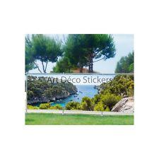 Brise vue imprimé, jardin, terrasse, balcon déco Les Calanques 9146