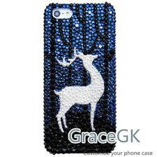 Handmade Custom Pattern Deer Elk Bling Phone case Cover Skin for Various Phone