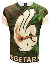 Fumar Mano Sublimación Estampado t-shirt/cannabis leaf/weed/funny / Swag dope/top