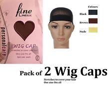 Wig Cap, Weaving Cap, Stretchable Wig Cap, Nylon Wig Cap (Pack of 2) 6328