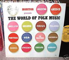 THE WORLD OF FOLK MUSIC MONITOR LP 60s  EXOTIC FOLK