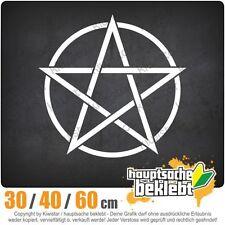 Pentagramm chf0137  in 3 Größen JDM  Heckscheibe Aufkleber
