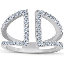 Hand Split Band White Gold 1/2ct Diamond Ring Fashion Right