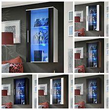 Living Room Display Case Glass Cabinet Shelves Shelf Rack Neo II High Gloss LED