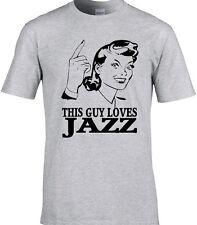Jazz Mens T-Shirt Music Jazzer Miles Coltrane Funny Birthday Gift Rock Soul Play
