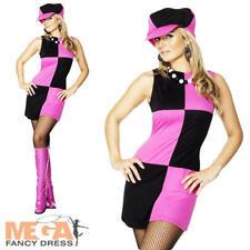 Swinging 60's Ladies Fancy Dress Costume & Hat