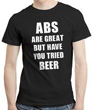 ABS son grandes, pero has intentado Cerveza-Divertido Dieta Gym Bar Pub Camisa Camiseta Camiseta
