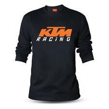 Genuine Official KTM Racing Logo Duke Bike MX SF-X Black Long Sleeve Tee T-Shirt