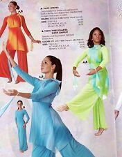 ba378f5fa Tie dye mesh Praise Dance Top Tunic with Wrist flyers 3 colors Praisewear  church