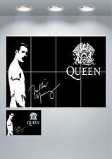 Queen Freddie Mercury Giant Wall Art poster Print