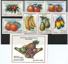 FRUTTI - FRUITS MADAGASCAR 1992 set+block
