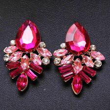 Earrings Handmade Rhinestone sweet stud crystal Dangle earrings for women girl