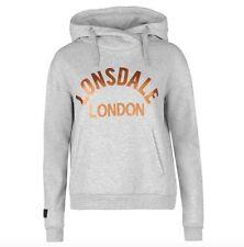Lonsdale London Damen Hoodie Sweater Pullover Grau Gold alle Größen Neu