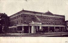 BELOIT WI - NEW HOTEL HILTON 1908 dirt road horses