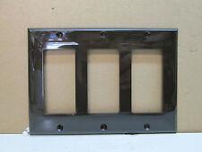 Lot of 10 Premier Three 3 Gang Decorator Rocker Light Switch Wall Plate - Brown