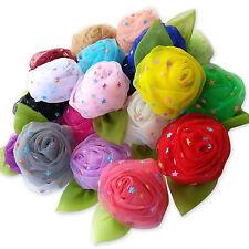 Star Rose Bud Flower Hair Clips Grips Bobbles Bridesmaid Wedding Dance Kids