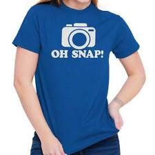 Oh Snap Funny Photography Photographer Photo Short Sleeve T-Shirt Tees Tshirts