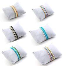 Six Tiny Beaded Rhinestones Crystal Bracelets Multi Coloured On Elastic Cord