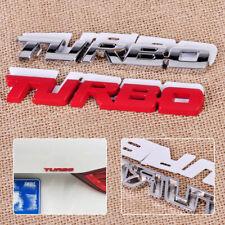 Silver 3D Metal Chrome TURBO Letter Fender Emblem Sticker Car Trunk Rear Badge