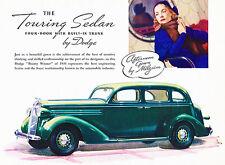 1936 Dodge 4-Door Touring Sedan - Promotional Advertising Poster
