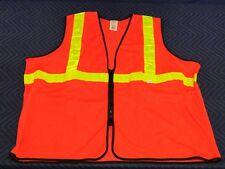 Iron Horse Mesh Orange Safety Vest Yellow Reflective Stripes Construction  L15