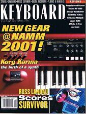 2001 KORG KARMA & Roland XV-5080 KEYBOARD Reviews Russ Landau Survivor Magazine
