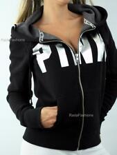 Victoria's Secret PINK Cozy Sherpa Fleece Lined Full Zip Hoodie Sweatshirt