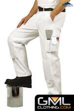 PortWest : Men's 305g 100% Cotton Painters Trousers - Multi pockets