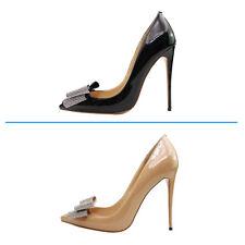 Verocara Women Pointed Toe Stiletto High Heel Bowtie Knot Sexy Dress Pump Shoe