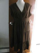 Anne Klein women's brown linen  dress Size 12 NWT