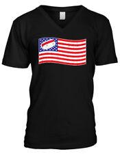 Hotdog American Flag - Funny 4th of July Hot Dog Mens V-neck T-shirt