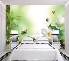 ShuiMo 31 verde moderna figura 3D  Lleno Pared Mural Foto  Papel Pintado Impresi