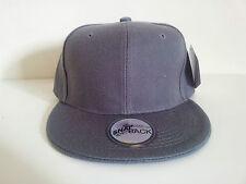 PLAIN CHARCOAL SNAPBACK POLYESTER CAP
