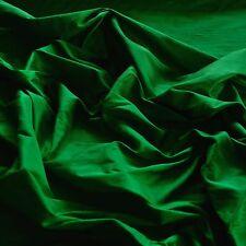 "Emerald Green Dupioni 100% Silk Fabric, 44""/54"" Wide, By The Yard (S-110)"