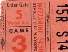 1961 CHICAGO BLACKHAWKS STANLEY CUP CHAMP TICKET STUB