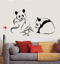 Vinyl Wall Decal Panda Bears Asian Bamboo Chinese Animals Stickers (1963ig)