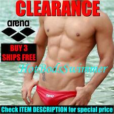 CLEARANCE Arena Men's Low-Rise Competition Speedo Swimwear/Trunks/Swim Briefs