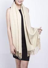Gil Design: übergrosser rechteckiger Schal Halstuch Stola sandbeige NEU