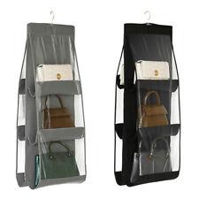 6 Pocket Closet Rack Organizer Handbag Storage Bags Hanging Shoe Bags Holder