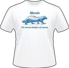 BITCOIN: The Honey Badger of Money T-SHIRT [Brand new, 100% Cotton]